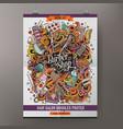 cartoon doodles hair salon poster vector image