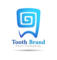 Dental logo tooth symbol design Template for your vector image