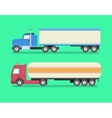 Flat set of icons trucks Heavy trucks vector image