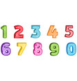 number letter polygon concept number one to nine vector image