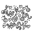 a beautiful doodle art using various shapes as vector image vector image