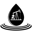A drop of oil and the oil pump vector image vector image