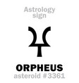 astrology asteroid orpheus vector image vector image