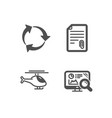 attachment recycle and helicopter icons seo
