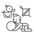 baby playingduck baby ball whirligig vector image