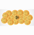 bitcoin digital currency background golden coin vector image