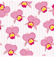 blooming cattleya orchid floral seamless pattern vector image vector image