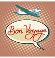 Bon voyage plane tourism flights vector image vector image