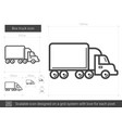 box truck line icon vector image
