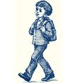 boy goes to school vector image