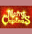 bright christmas red banner vector image vector image
