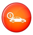 Car and dollar sign icon flat style vector image