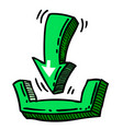 cartoon image of download icon vector image