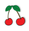 cherry for sticker vector image vector image