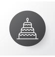 christmas cake icon symbol premium quality vector image