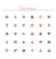 Christmas Colored Line Icons