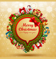 Christmas vintage bubble for speech vector image vector image