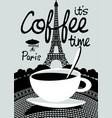 coffee banner on background of prague landscape vector image