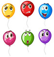 colorful balloons with different faces vector image vector image