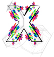 Colorful Font Letter X vector image vector image