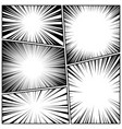 comic book radial lines collection comics vector image vector image