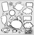 comic style speech bubbles collection funny vector image vector image