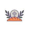 communion wafer and bread fill design vector image vector image