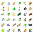 competition icons set isometric style vector image vector image