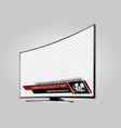 curved tv screen lcd plasma with news bars vector image vector image