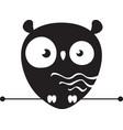 cute owl logo vector image