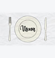 cutlery knife fork plate doodle icons vector image