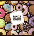 donut seamless pattern doughnut food glazed vector image