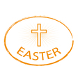 easter day stamp style with cross vector image