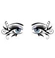 eyes floral blue vector image