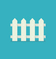 fence icon in flat style vector image