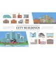 flat cityscapes colorful composition vector image vector image