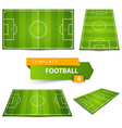 football soccer court four items vector image vector image