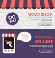 Good Shop Shopping On-line Set of Flat Design vector image vector image