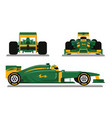green racing car ready for race vector image vector image