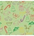 Hand drawn seamless christmas background Color vector image vector image