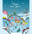 happy holidays seasonal greeting card vector image vector image