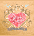 happy valentines day card design valentine vector image