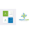 health care logo design inspiration vector image vector image