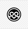 heart logo infinity loop icon vector image
