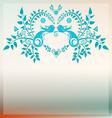 Heart with Love blue birds vector image vector image