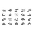 insurance support icons set payment damages from vector image vector image