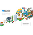 isometric cityscape elements collection vector image vector image