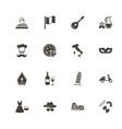 italian - flat icons vector image vector image
