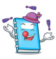 juggling education mascot cartoon style vector image vector image