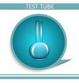 laboratory glassware instrument medical flask vector image